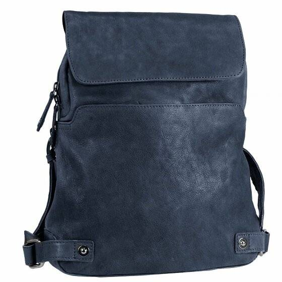 harold's pull up zaino pelle 38 cm midnight blue