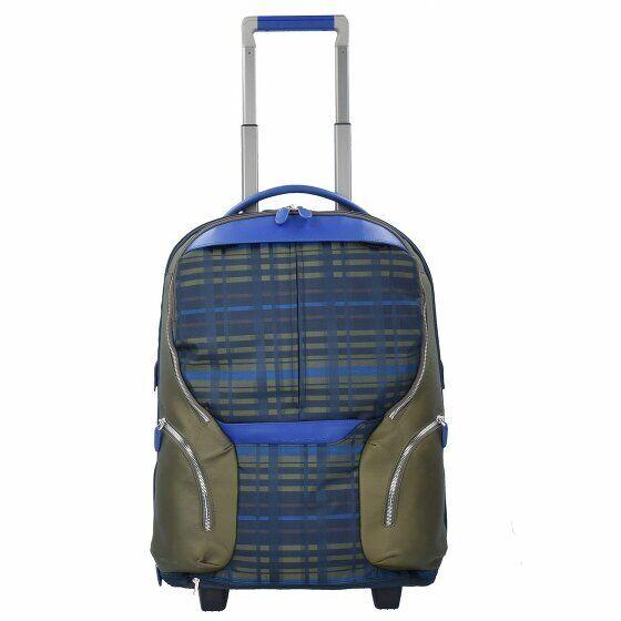 Piquadro valigia da cabina a 2 ruote 53 cm compartimenti portatile