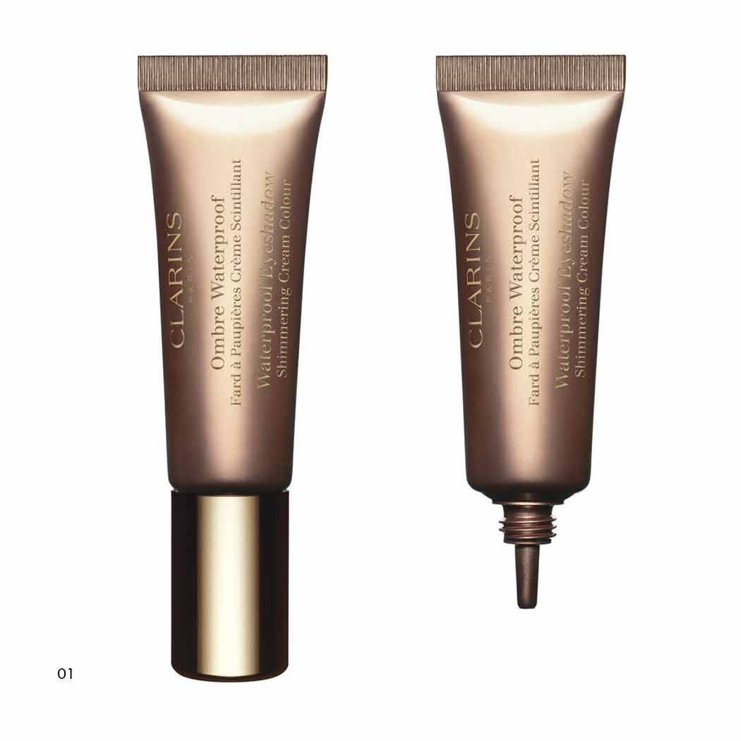 Clarins Ombre Waterproof Fard A Paupieres Creme Scintillant N. 03 Silver Taupe