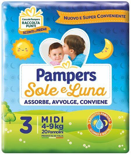 Fater Spa Pampers Sole&luna; Midi 20pz