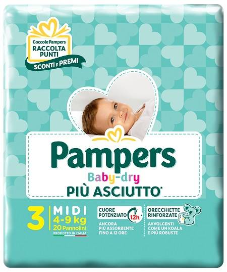 Fater Spa Pampers Baby Dry Down Midi20pz
