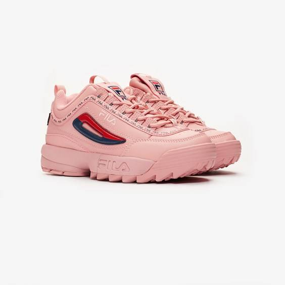 Fila Disruptor Ii Premium Repeat For Women In Pink - Size 38.5