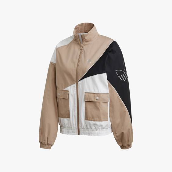 Adidas Track Top For Women In Brown - Size Ws