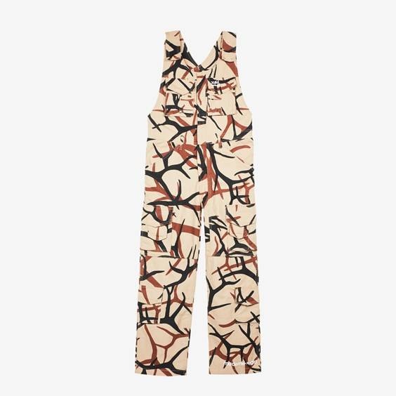 Mademe Cargo Overalls X X-Girl For Women In Brown - Size Ws