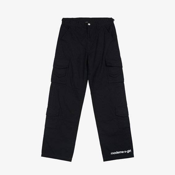 Mademe Cargo Pants X X-Girl For Women In Black - Size Ws