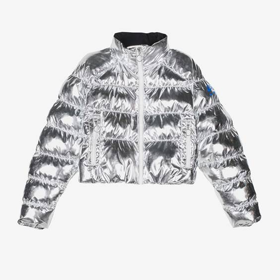 Nike Puffer Foil X Olivia Kim For Women In Silver - Size Ws
