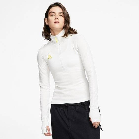 Nike Acg Ls Thermal Top For Women In White - Size Ws