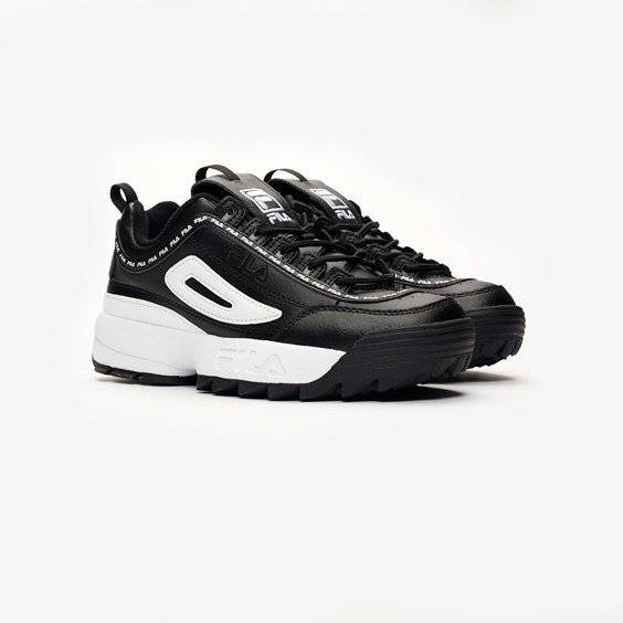 Fila Disruptor Ii Premium Repeat In Black - Size 43