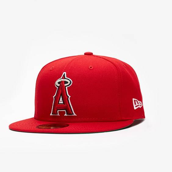 New Era Mlb X Sns Los Angeles Angels In Red - Size 7 3/8