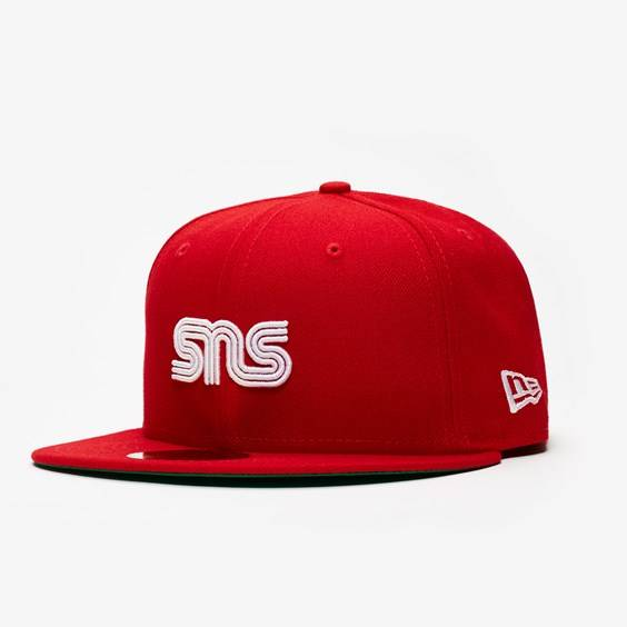 New Era Sns X Mlb Los Angeles Angels In Red - Size 7 5/8