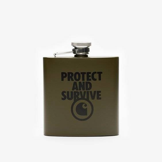 Carhartt Protect And Survive Whiskey Flask In Green - Size Misc