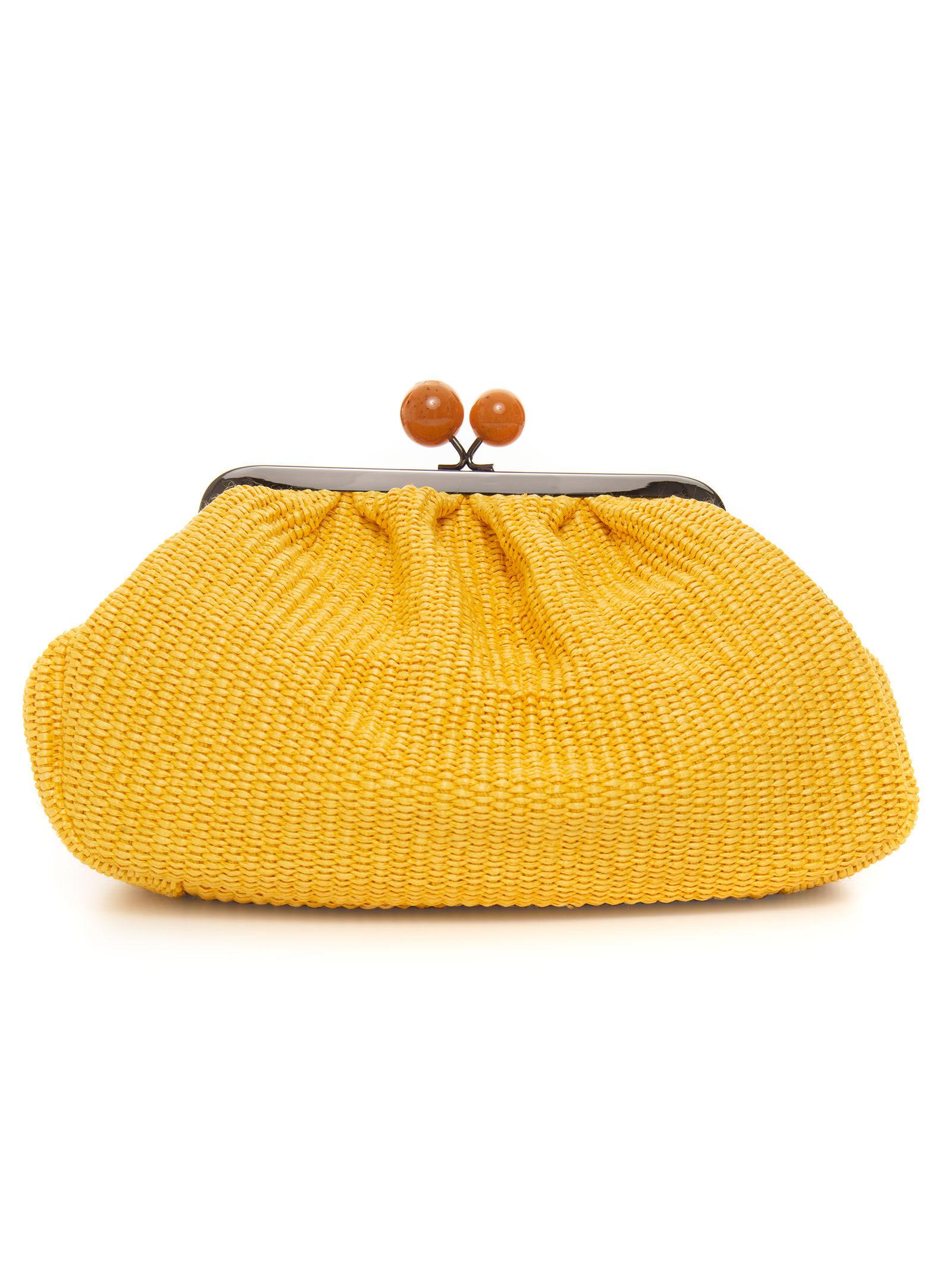 max mara weekend borsa in paglia livia giallo rafia donna