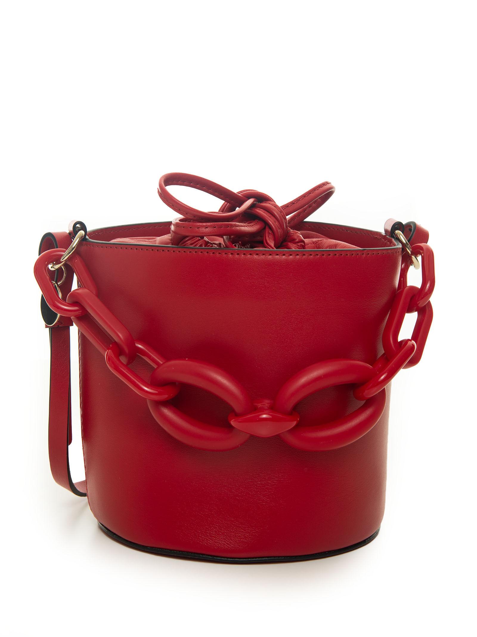 red v borsa a secchiello rosso donna