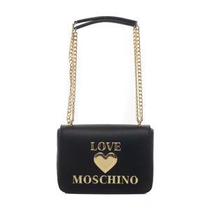 Love Moschino Borsa rettangolare media Nero Pvc Donna