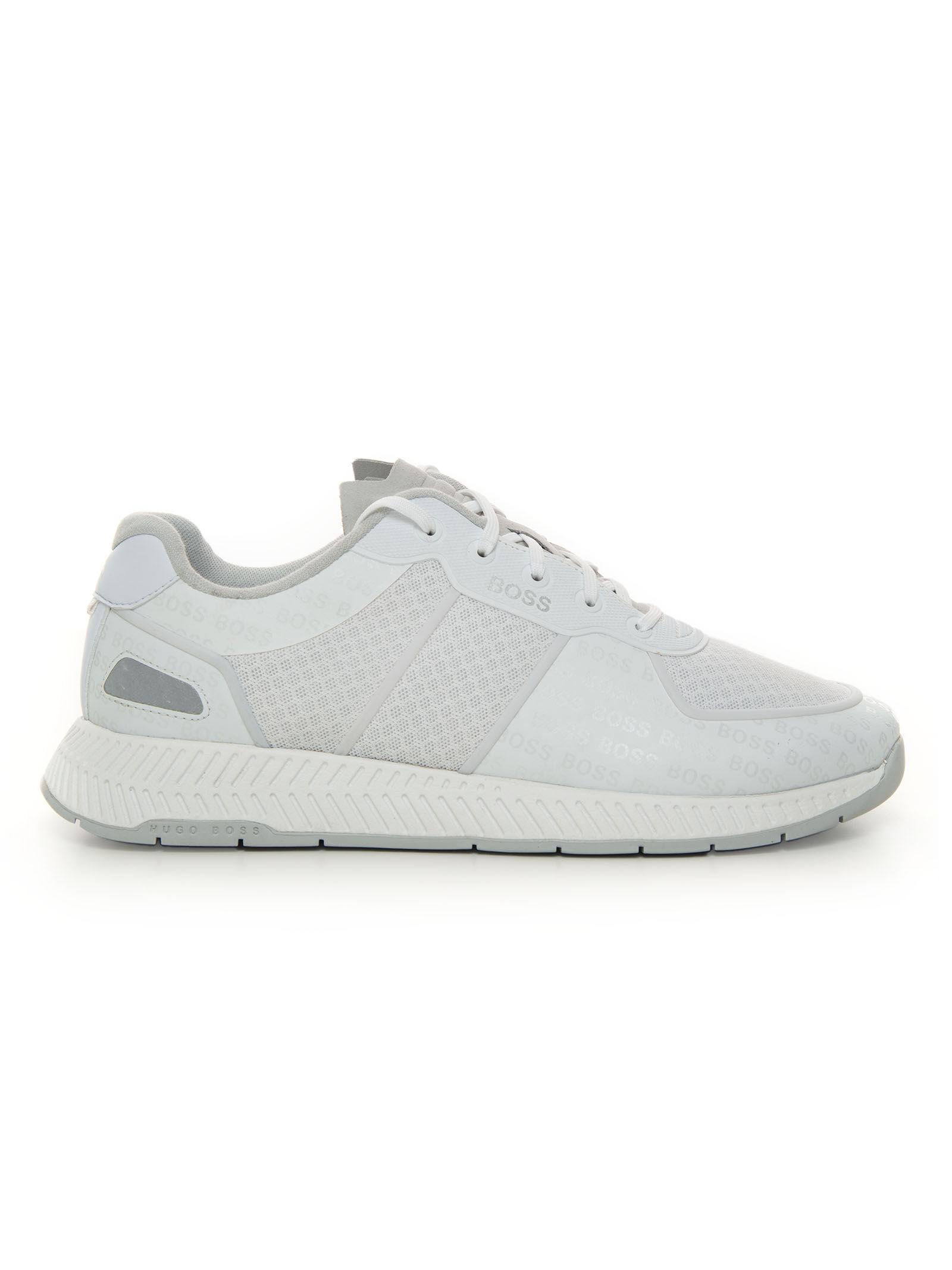 Boss Sneakers Bianco Pelle Uomo