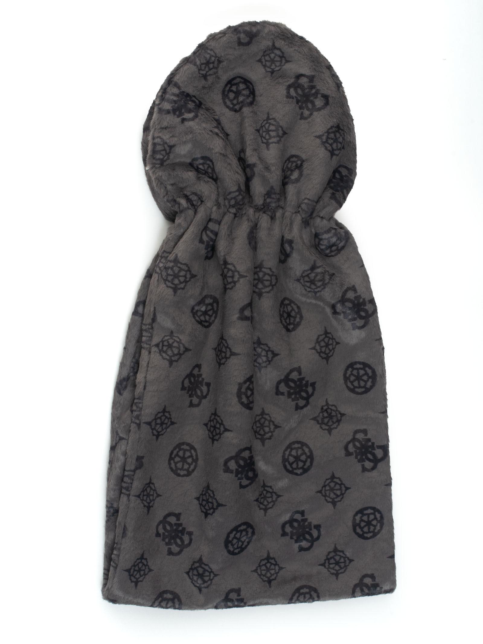 guess sciarpa nero acrilico donna