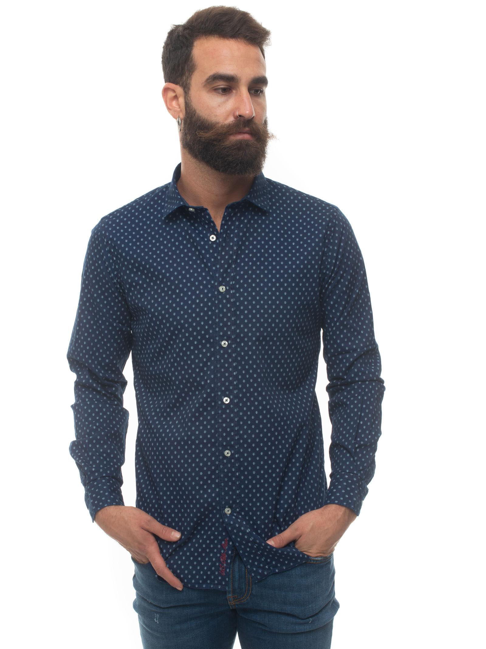 US Polo Assn Camicia casual Denim medio Cotone Uomo