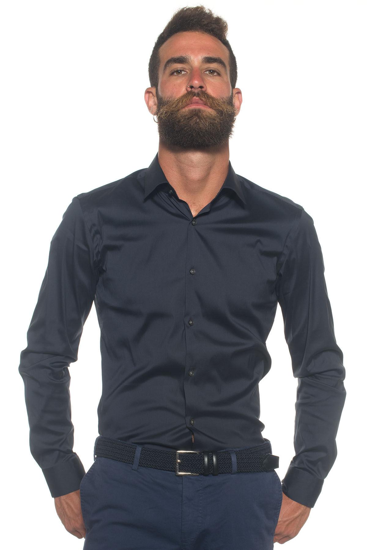 Boss Camicia classica da uomo Blu Cotone Uomo
