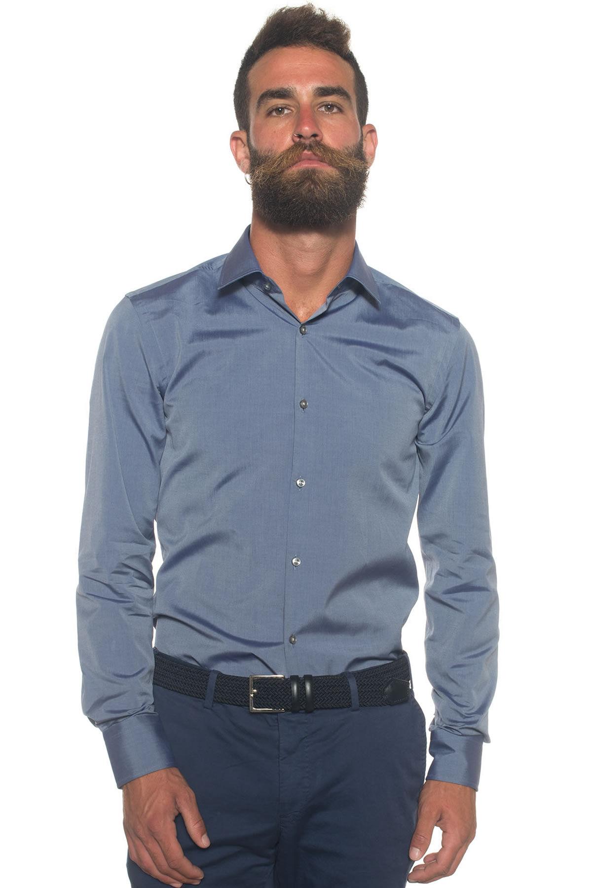 Boss Camicia classica da uomo Grigio medio Cotone Uomo