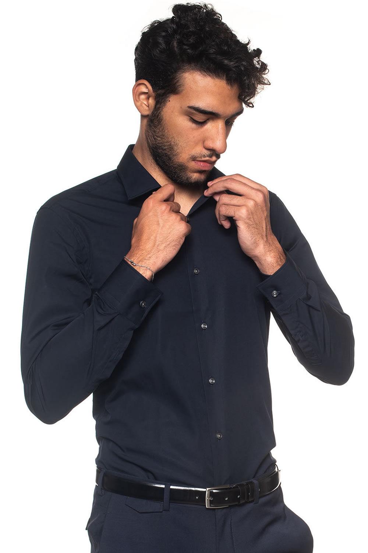 Boss Camicia classica da uomo Jenno Blu Cotone Uomo