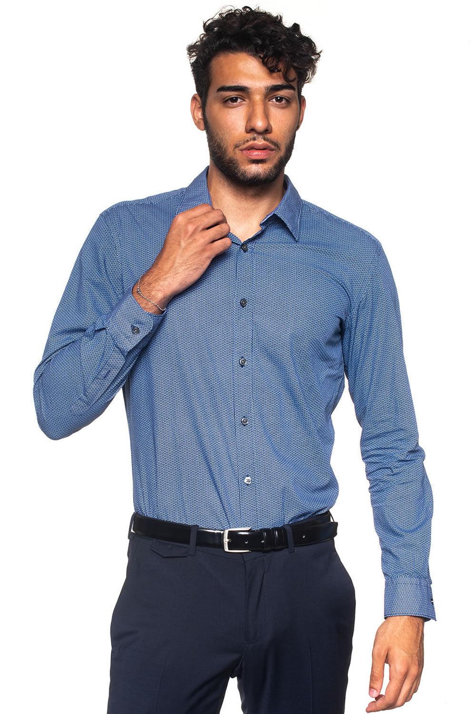 Boss Camicia casual Ronni_53 Blu Cotone Uomo