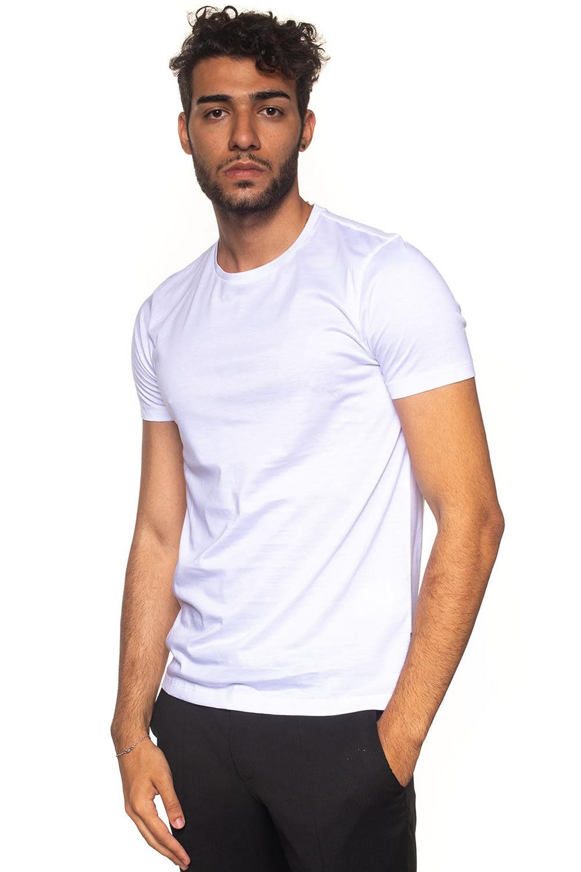 Boss T-shirt girocollo Tessler Bianco Cotone Uomo