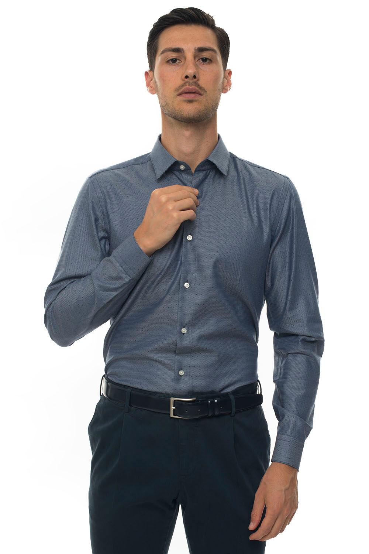 Boss Camicia casual Blu Cotone Uomo