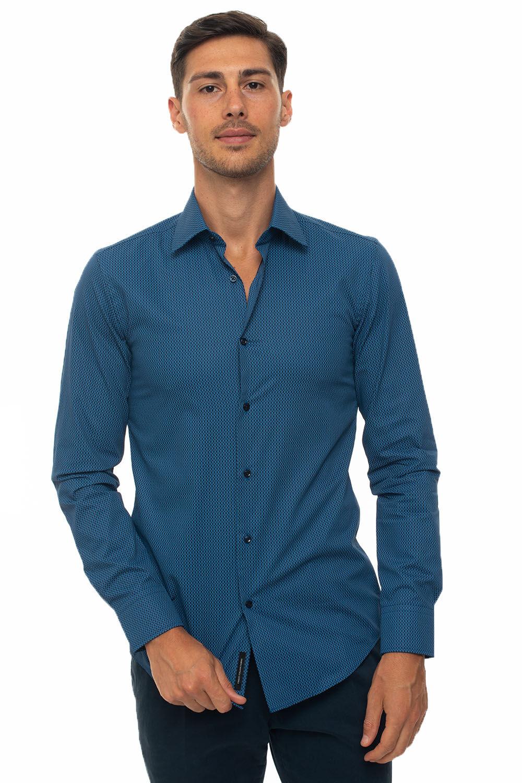 Boss Camicia casual Bluette Cotone Uomo