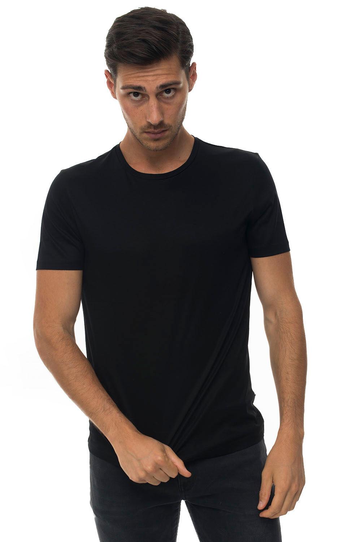 Boss T-shirt girocollo Nero Cotone Uomo