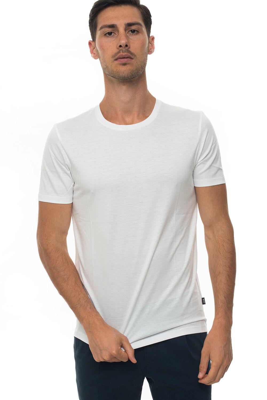 Boss T-shirt girocollo Bianco Cotone Uomo