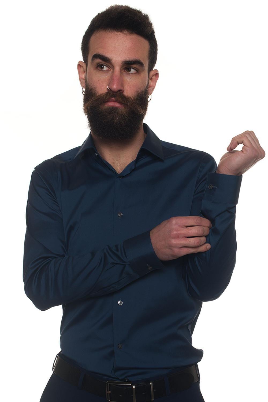 Boss Camicia classica da uomo Herwing Blu medio Cotone Uomo