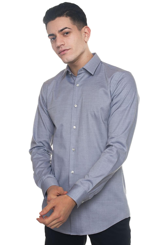 Boss Camicia classica da uomo Herwing Grigio chiaro Cotone Uomo