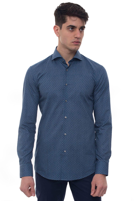 Boss Camicia casual Jason Denim Cotone Uomo