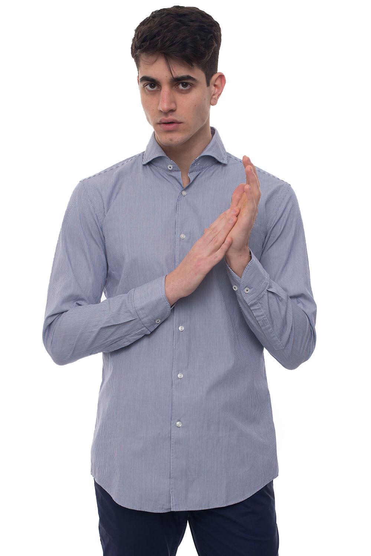 Boss Camicia casual Jemerson Blu Cotone Uomo