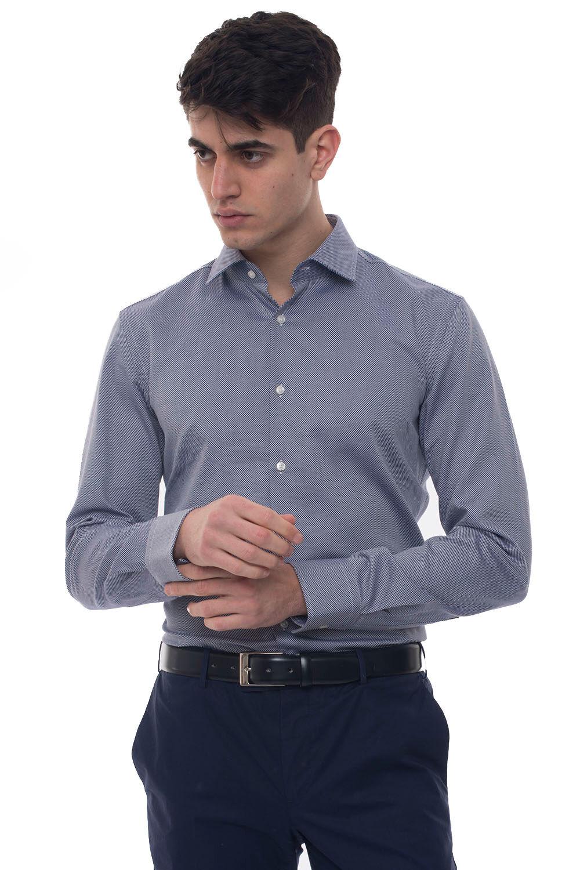 Boss Camicia casual Jenno Blu Cotone Uomo