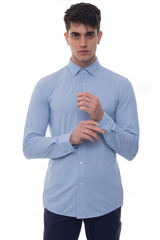 Boss Camicia casual Jenno Azzurro Poliammide Uomo