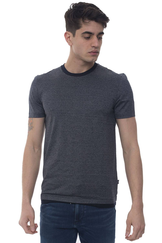 Boss T-shirt girocollo mezza manica Tessler 111 Blu Cotone Uomo