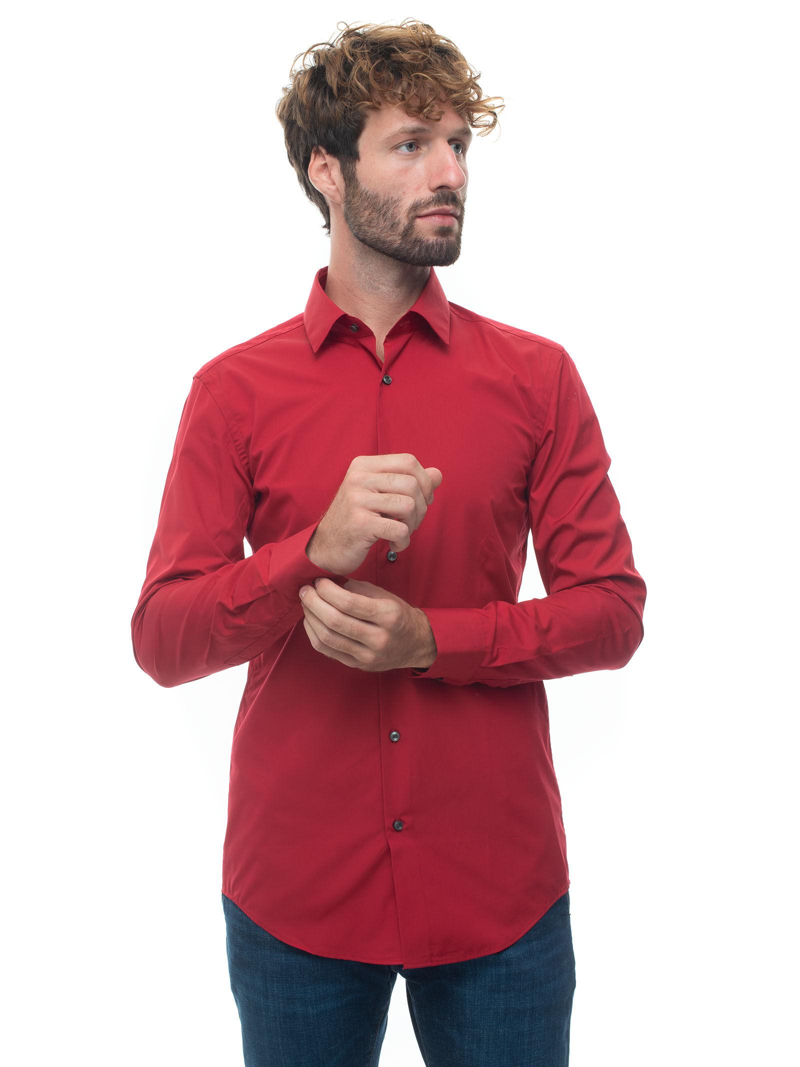 Boss Camicia classica da uomo Rosso Uomo
