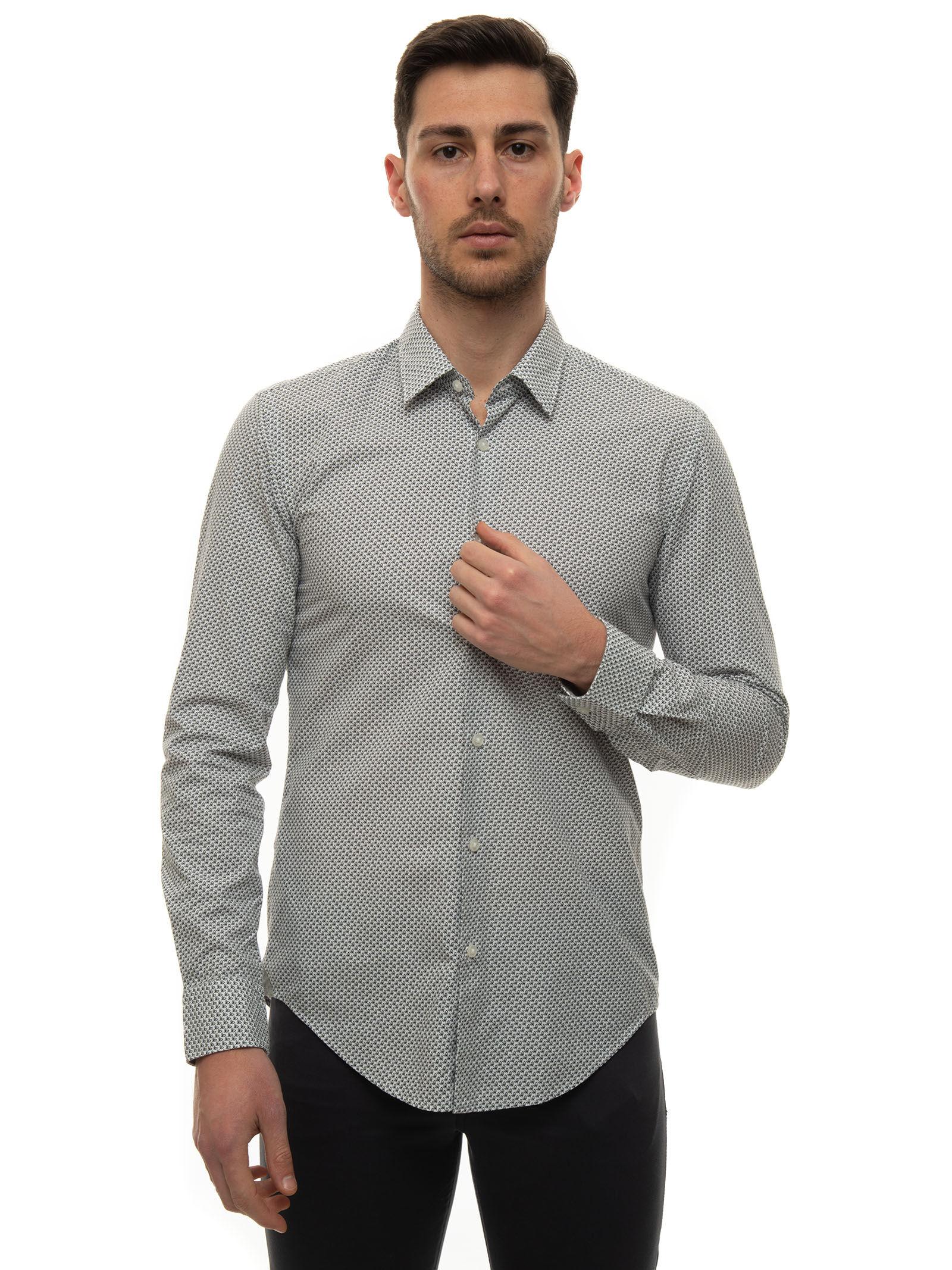 Boss Camicia casual Grigio Cotone Uomo