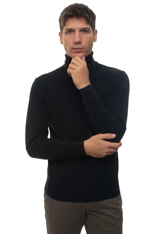 Peuterey Pullover collo alto Gorran Nero Cotone Uomo