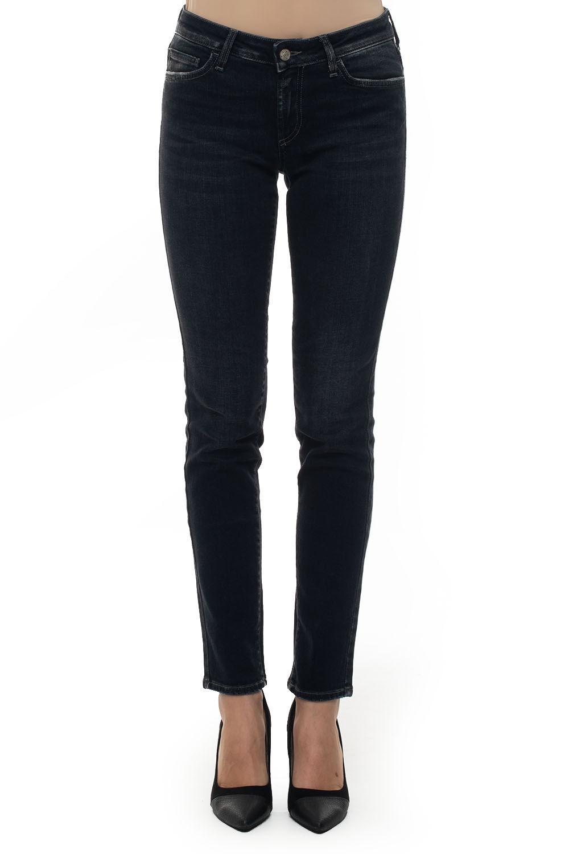 Roy Rogers Jeans 5 tasche con rotture PUSH UP VINCE Denim nero Cotone Donna