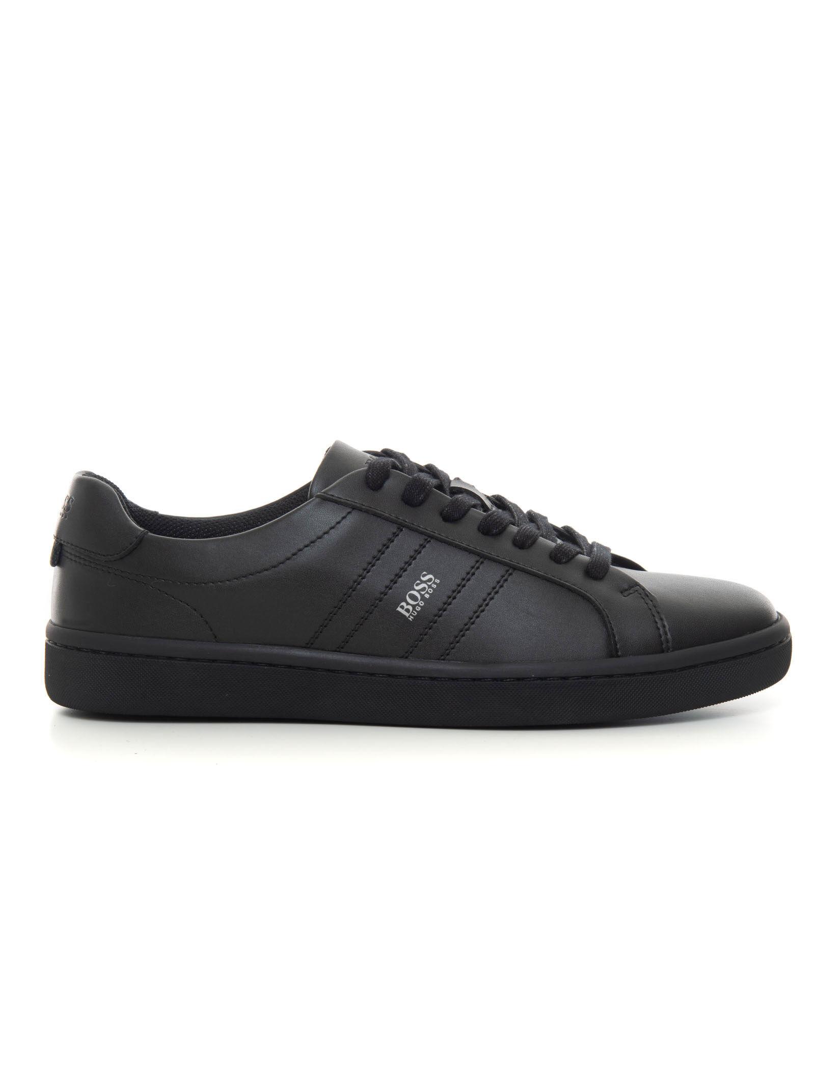 Boss Sneakers in pelle con lacci Ribeira_Tenn_Itpl Nero Pelle Uomo