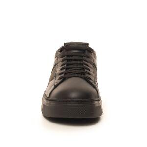 Giorgio Armani Sneakers in pelle con lacci Nero Pelle Uomo
