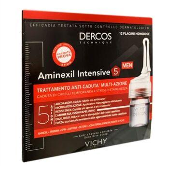 dercos linea aminexil intensive 5 azioni trattamento anticaduta uomo 12 fl.