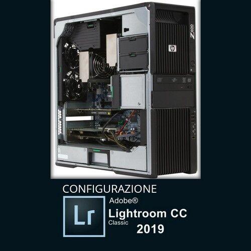 HP Z600 Workstation Tower(Configurazione Adobe Lightroom CC 2019) 2x Intel®HexaCore Xeon®X5650 24GB DDR3 ECC, HDD 3TB, NVIDIA QUADRO K4000, W10 Pro.