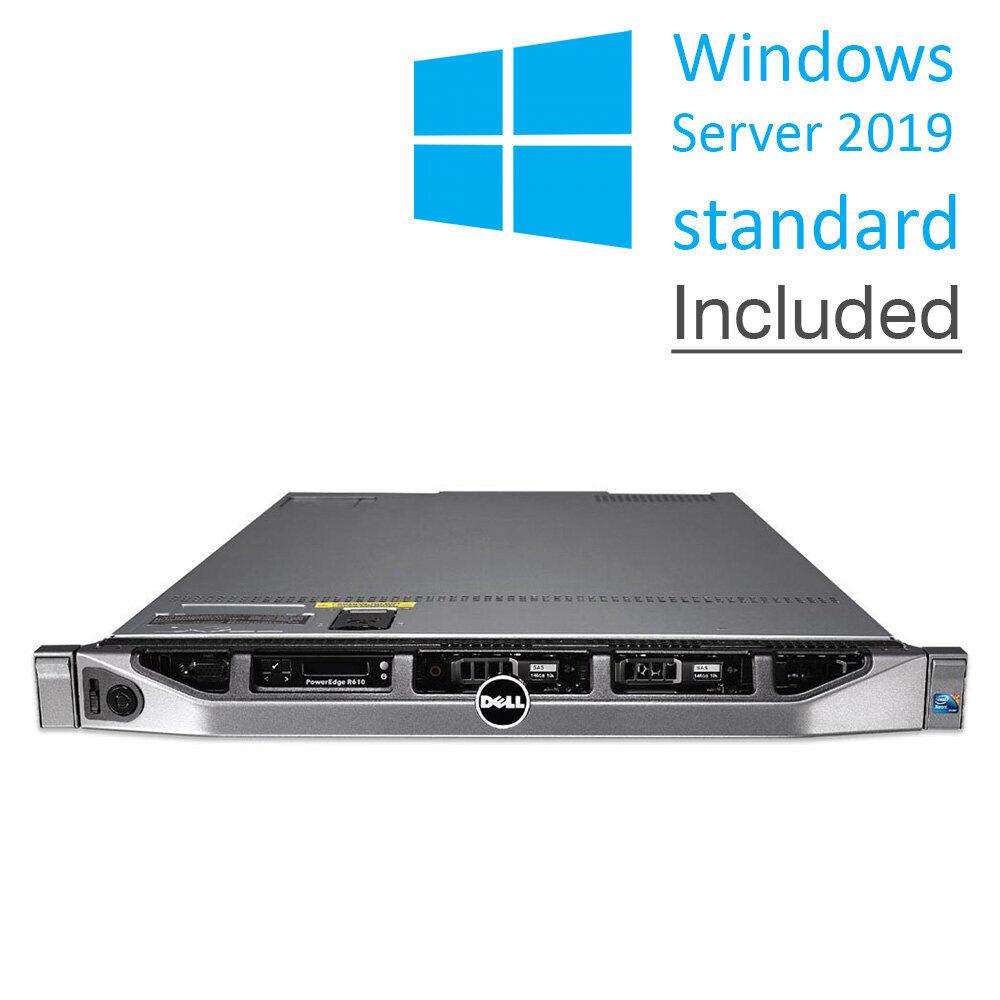 Dell POWEREDGE R610 - 2x Xeon® HexaCore, Ram 32GB, HDD 2x 600GB. Win Server 2019 Std