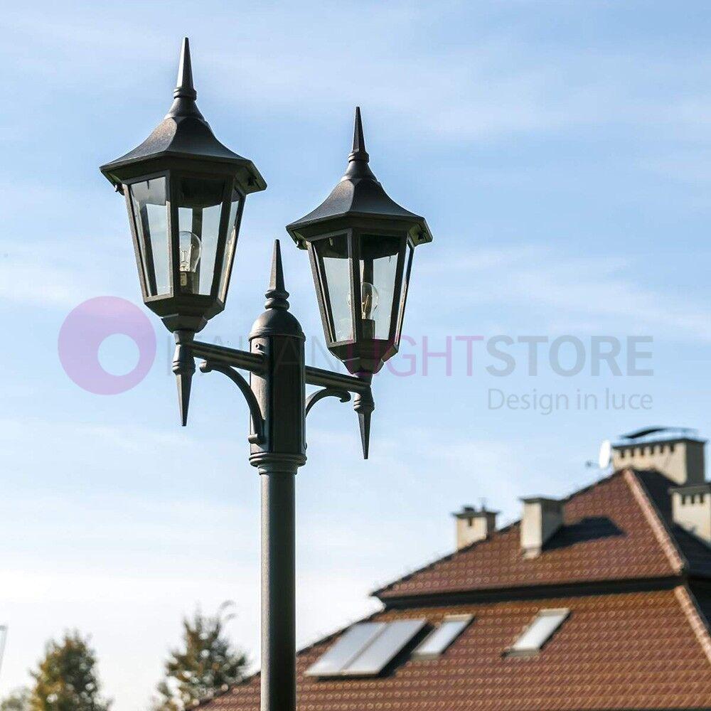 Norlys Modena Lampione Classico A 2 Luci Forma Esagonale Illuminazione Esterno
