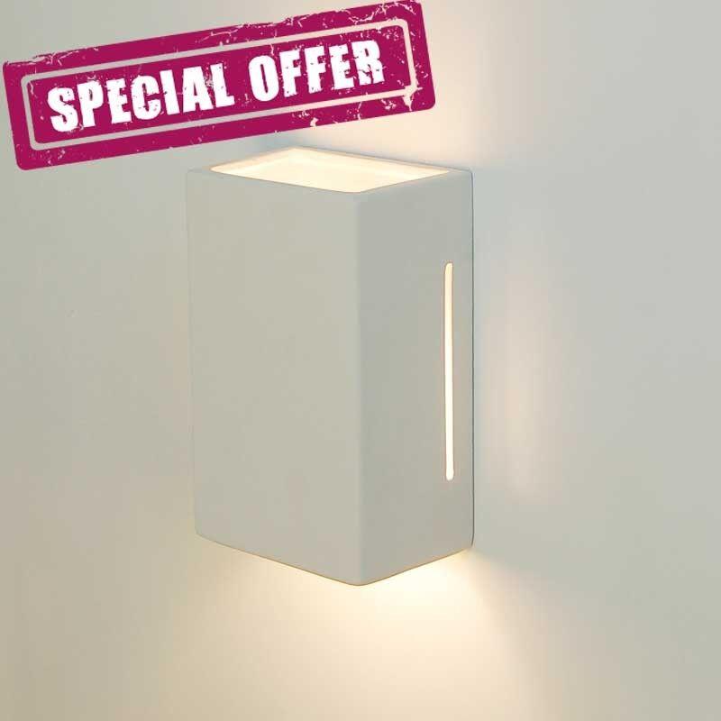 LIBERTI LAMP linea ceramica Artic-T Applique Cubotto In Gesso Colorabile Design Moderno