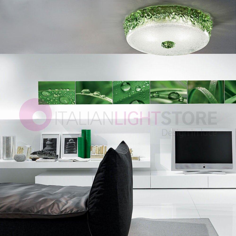 Vetrilamp Ca' Del Sole Plafoniera Vetro Di Murano D. 50 Design Moderno