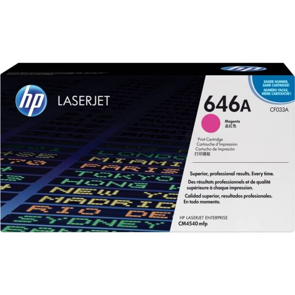 HP Originale Color LaserJet Enterprise CM 4540 MFP Toner (646A / CF 033 A) magenta, 12,500 pagine, 1.36 cent per pagina